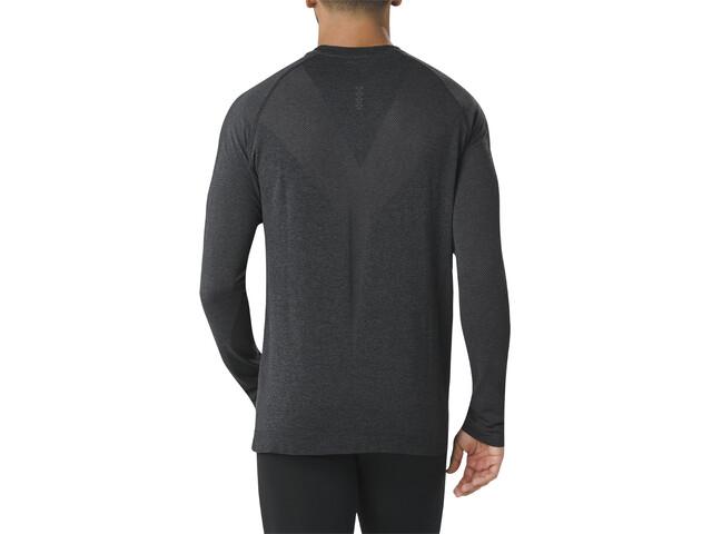 b3b0a574791 asics Seamless - T-shirt manches longues running Homme - noir sur ...